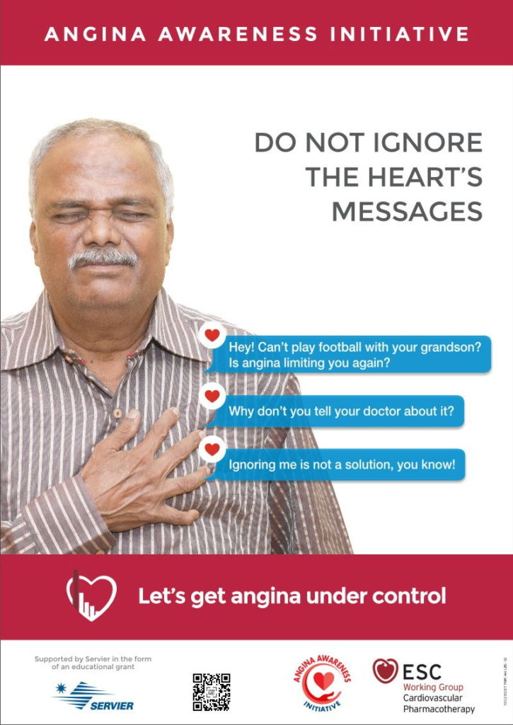 Football Poster | Angina Awareness India