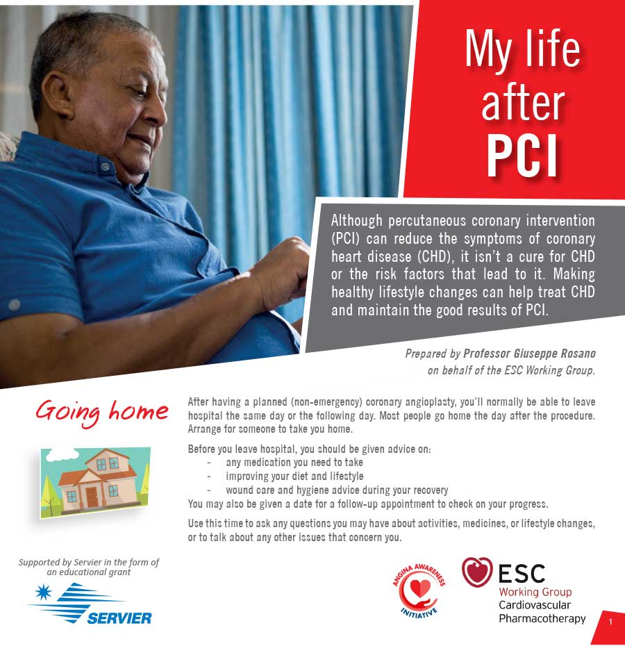 My Life After PCI | Patient Education Booklet | Angina Awareness India